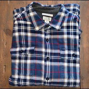 L.L.Bean Fleece Lined Flannel Shirt